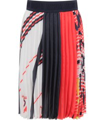 msgm multicolor skirt with logos for girl