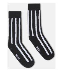 wesc kennedy uneven stripe crew socks, 2 pack