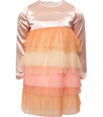 billieblush multicolor pleated ruffles skirt with pink top