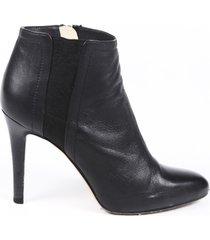 jimmy choo tito leather booties black sz: 5