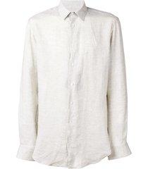 giorgio armani classic straight-fit shirt - neutrals