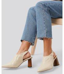 na-kd shoes high vamp slingback pumps - beige