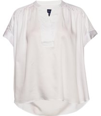 d2. fluid popover top blouses short-sleeved wit gant
