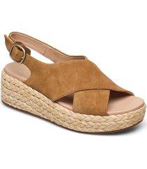 kimmei cross sandalette med klack espadrilles brun clarks