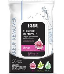 lenço demaquilante kiss new york makeup remover tissue rose 36 unidades
