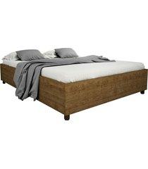 cama box casal mônaco imbuia rustic tcil móveis