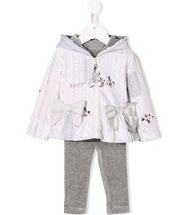 lapin house hooded zip tracksuit set - grey