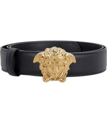 versace leather belt with medusa buckle
