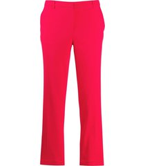 emporio armani low-waist straight trousers - red