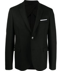 neil barrett travel slim-fit blazer - black