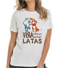 camiseta vira lata buddies feminina - feminino