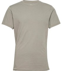 crew-neck cotton t-shirts short-sleeved grå bread & boxers