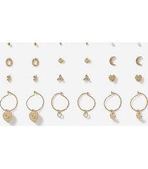 *12 earrings multipack - clear
