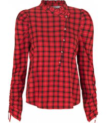 geruite blouse jaen  rood