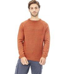 sweater tejido etnico vintage marron corona