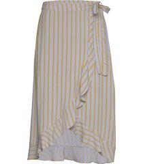charlotte print skirt knälång kjol blå modström