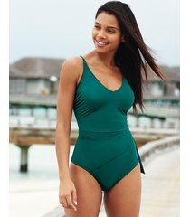 icon augusta non-wired wrap tie front shaping one-piece swimsuit