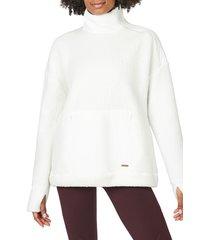 women's sweaty betty fleece pullover