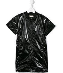 andorine short sleeved bomber-style coat - black