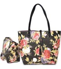 imoshion handbags women's bag in bag tote with peony pebble print