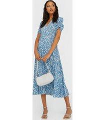 polo ralph lauren floral crepe wrap dress maxiklänningar