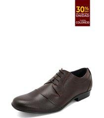 zapato formal café-negro colore