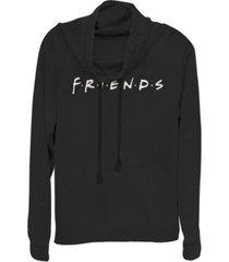 juniors warner bros friends tv classic logo cowl neck sweatshirt