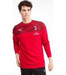 ac milan casuals sweater voor heren, zwart/rood, maat xs   puma