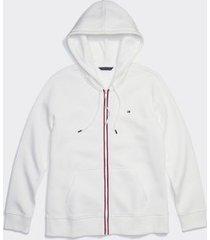 tommy hilfiger women's adaptive classic zip hoodie snow white - xl