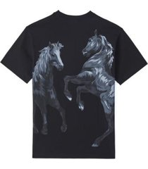 horse t-shirt in black