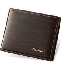 mini billetera/ monedero de los hombres billetera de-marrón