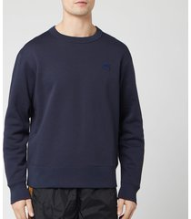 acne studios men's mini fairview face sweatshirt - navy - m