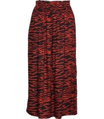 kaseba skirt lång kjol röd kaffe