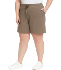 karen scott plus size mid-rise shorts, created for macy's