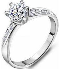 anillo compromiso casual blanco arany joyas