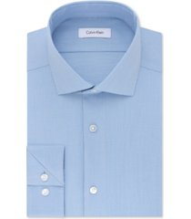 calvin klein men's steel big & tall slim-fit non-iron performance stretch unsolid solid dress shirt