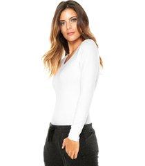 blusa lupo comfort branca - branco - feminino - algodã£o - dafiti