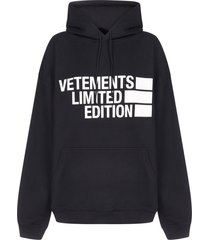 vetements limited edition logo oversized cotton hoodie