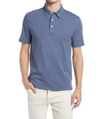 faherty movement short sleeve polo shirt, size xx-large in sea navy melange at nordstrom