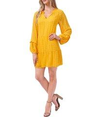 cece long sleeve shift dress, size medium in golden hour at nordstrom