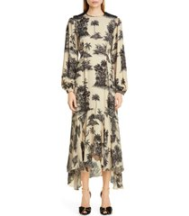 women's johanna ortiz toile palm print long sleeve maxi dress