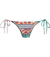 lygia & nanny demi printed bikini bottom - multicolour