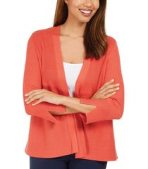 jm collection mixed-ribbed split-sleeve cardigan, created for macy's