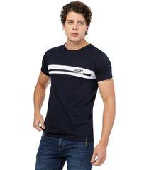 camiseta azul navy manpotsherd alemania