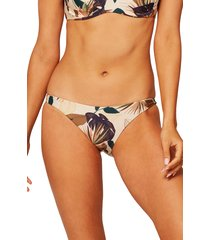 women's l space camacho hipster bikini bottoms, size x-large - beige
