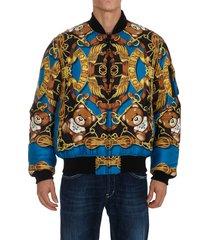 moschino teddy scarf jacket
