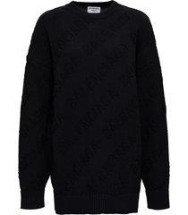balenciaga oversized knit sweatshirt