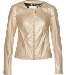 giacca in similpelle con fodera fantasia (oro) - bpc selection premium