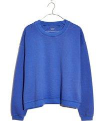 women's madewell swing sweatshirt, size large - blue