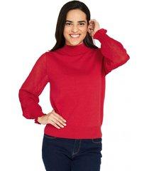 sweater manga brillos rojo nicopoly